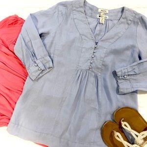 Light blue linens blouse